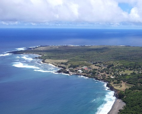The former leprosarium of Kalaupapa is blocked by sea on three sides and 2000 foot cliffs on the fourth.